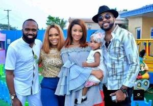 Singer Banky W And Adesua Attend Noble Igwe And Daughter